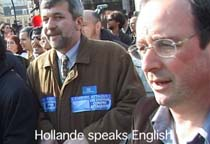 hollande speaks english